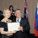 Zulya with the president of Tatarstan 2011